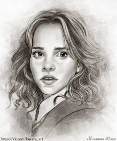 Hermione pencil drawing