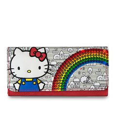 Look at this #zulilyfind! Hello Kitty Gray Rainbow Sequins Wallet #zulilyfinds