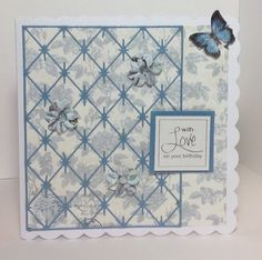 card designed by Kay Fletcher. Butterfly Kisses, Butterfly Cards, Craftwork Cards, It's Your Birthday, Card Ideas, Crafting, Feminine, Collections, Diy Crafts