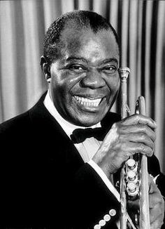 """Louis """"Satchmo"""" Armstrong ♦ American jazz trompeter and singer. http://www.youtube.com/watch?v=bOH_mioL3TU"""