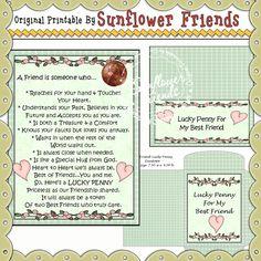 Best Friend Lucky Penny Card & Envelope Set