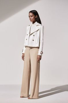 Work Outfit Idea from Ann Taylor: A Lesson In How to Wear Whites To Work, With Tailored Layers in Classic Silhouettes // Explore More Work Style Ideas from Ann Taylor: (http://www.racked.com/2015/10/30/9642804/ann-taylor-spring-2016-collection#4867343)