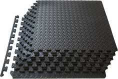 Prosource Fit Puzzle Exercise Mat, EVA Foam Interlocking Tiles, Protective Flooring for Gym Equipment and Cushion for Workouts Foam Floor Tiles, Foam Flooring, Rubber Flooring, Floor Mats, Flooring Tiles, Floors, Floor Workouts, At Home Workouts, Exercise Workouts