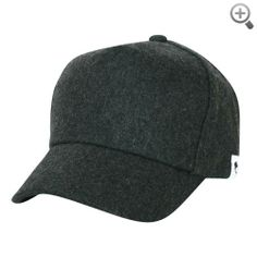 ililily Wool Vintage Baseball Cap with Adjustable Strap Simple Winter Cap