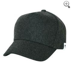 ililily Wool Vintage Baseball Cap with Adjustable Strap Simple Winter Cap
