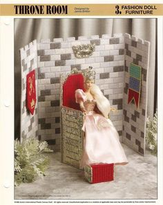 Plastic Canvas Sheets | Fashion Doll Furniture Plastic Canvas Pattern Sheet Leaflet Assorted ...