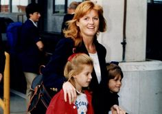 The Duchess of York and Princesses Beatriche & Eugenie 1996