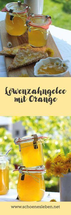 Einfaches Rezept für Löwenzahngelee mit Orange I www.schoenesleben.net I #löwenzahngelee #löwenzahn #löwenzahnrezepte