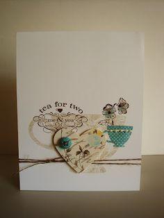 Stampin' Up!  Tea Shoppe Card  penguinstamper  Penny Thomas