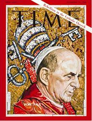 The Summer of 1968 Pope Paul VI promulgated The Credo of the People of God on 30 June less than one month before releasing his prophetic Encyclical Humanae Vitae. I lived through these events… Catholic Religion, Catholic Saints, Roman Catholic, Pope John, Pope Francis, Time Magazine, Magazine Covers, Pope Benedict, Gods Timing