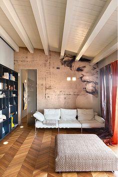 chevron wood floor