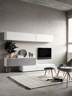 Lugano TV Wall Storage Unit  | Minimalist Furniture Designs | BoConcept Sydney