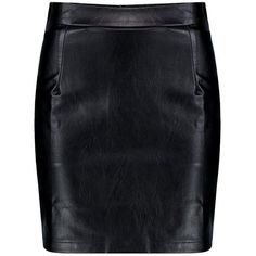 Boohoo Iman Woven A Line Leather Look Mini Skirt ($23) ❤ liked on Polyvore featuring skirts, mini skirts, boohoo, a line skirt, faux leather mini skirt, holographic mini skirt, circle skirt and pleated mini skirt