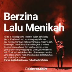 "Muslim Daily on Instagram: ""Seorang lelaki berzina dengan wanita, lalu lelaki ini menikahinya dengan akad yang syar'i. Apakah pernikahannya ini sah? Dengan catatan si…"" Islamic Quotes, Muslim Quotes, Islamic Inspirational Quotes, Hadith Quotes, Quran Quotes, Me Quotes, Motivational Quotes, Religion Quotes, Islam Religion"