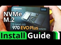 Samsung 970 EVO Plus Installation - YouTube Computer Diy, Office Hacks, Build A Pc, Product Review, Evo, Windows 10, Computers, Samsung, Electronics