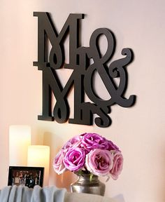 """WORD WALL ART """"MR & MRS"""" ROMANTIC WALL ART FOR COUPLES GREAT ON BEDROOM WALL #Unbranded #MODERN"""