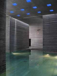 Thermal Bath Vals, Switzerland by architect Peter Zumthor (one of the coolest places I've ever been to) Peter Zumthor, Water Architecture, Amazing Architecture, Architecture Design, Lebbeus Woods, Zaha Hadid Architects, Richard Meier, Carlo Scarpa, Steven Holl
