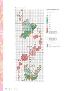 Cross-stitch Butterflies Bookmark...   Punto de Cruz GRATIS: Cenefas