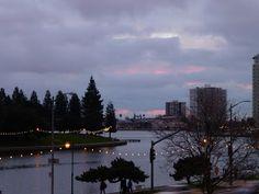 Sunset on Lake Merritt.