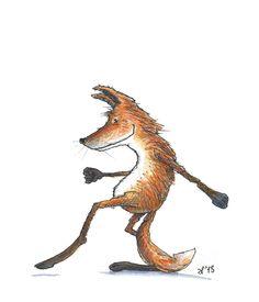 Groovy Fox by Eva Poppink