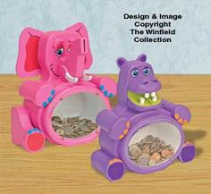 Fat Elephant & Hippo Bank Plans