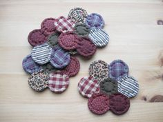 Primitive Quilted Coasters Fabric Coasters Mug Mats by dlf724