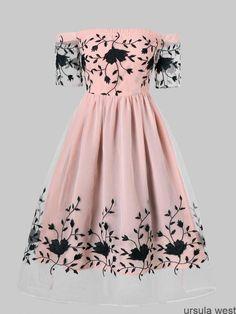 Vestido de noche bordado con hombros descubiertos - PINK XL #brodee #denudee ... #fancydress Vestido de noche bordado con hombros descubiertos - PINK XL #brodee #denudee ... #vestidosadolescentes #vestidosdefiesta #vestidosdemoda #DiamondDropStudEarrings