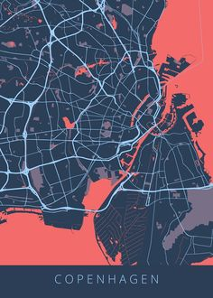 Hand-crafted metal posters designed by Vedran M Design City, Map Design, Location Analysis, Landscape Plane, Copenhagen City, Urban Analysis, City Maps, Power Tools, Travel Posters