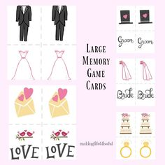Large Group Concentration Games For Baby Showers And Bridal Showers.  Printable Shower Games Including Memory, Scattergories, And Advice Cards.