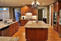 Pretty kitchen - dark kitchen cabinets
