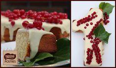 Pastel de chocolate blanco y grosellas. Blog: Cook the cake