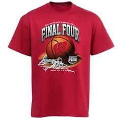 Wisconsin Badgers 2014 NCAA Men's Basketball Tournament Final Four Bound Hoops T-Shirt- Cardinal