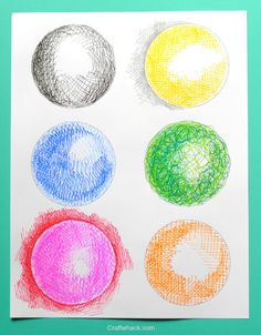 Different fun ways to use crosshatching, plus a free  printable to practice on