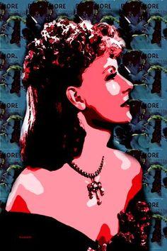 "Saatchi Art Artist ACQUA LUNA; Painting, ""12-Greta Garbo. Pop Art."" #art"