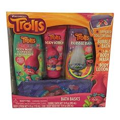 Introducing Trolls Bath Basics  Bubble Bath  Body Wash  Body Lotion. Get Your Ladies Products Here and follow us for more updates! Baby Shampoo, Bubble Bath, Toiletry Bag, Body Wash, Body Lotion, Troll, Bath And Body, Bubbles, Lunch Box