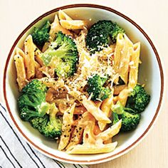 cheesy penne with broccoli | cooking light