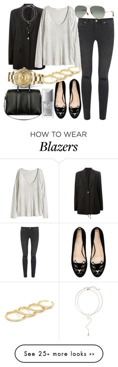 """""""Untitled #2571"""" by dkfashion-658 on Polyvore featuring Acne Studios, Paige Denim, H&M, Ray-Ban, Charlotte Olympia, Givenchy, Rolex, Christian Dior and BP."""