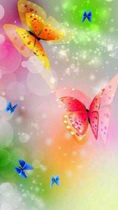 Butterflies phone wallpaper