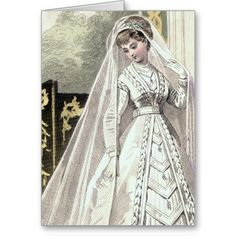victorian wedding pictures | Victorian Bride Wedding Invitation Greeting Card from Zazzle.com
