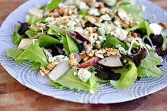 Wilted spinach salad, Spinach salads and Blue cheese on Pinterest