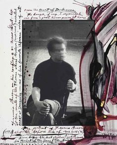 Francis Bacon on his rooftop by Peter Beard, 1972