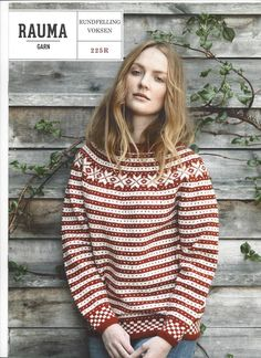 Ravelry: 1 Fanakofte og -genser med rundfelling pattern by Rauma Designs Fair Isle Knitting Patterns, Knitting Designs, Knitting Ideas, Norwegian Knitting, Jumpers For Women, Ladies Jumpers, How To Purl Knit, Yarn Shop, Warm Outfits