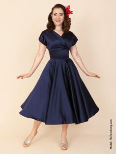Grace+Dress+Navy+Duchess+from+Vivien+of+Holloway.  FAV!