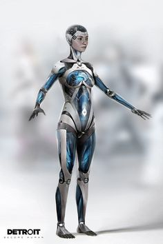 Detroit become human Detroit Become Human Actors, Character Inspiration, Character Design, Female Cyborg, Becoming Human, Robot Concept Art, Futuristic Art, Sci Fi Characters, Girl Pictures