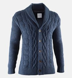 Peak Performance Camden Cardigan-Inspired by a traditional fishermen's knit, this sturdy cardigan is quite a catch. The dry feel of the heavy yarn gives the impression of a genuinely handmade garment. Suedefeel elbow patches and horn buttons complete the classic look.