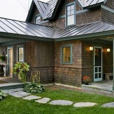 Exterior Painted Cedar Shake Design, Pictures, Remodel, Decor and Ideas - page 4