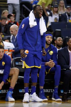 Golden State Warriors' Draymond Green (23) yells at teammates during their game against the Phoenix Suns in the fourth quarter at Oracle Arena in Oakland, Calif., on Sunday, April 1, 2018. (Nhat V. Meyer/Bay Area News Group)