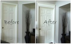 DIY: How To Cut  Add Crown Moulding To Door Casings - excellent tutorial  a great way to add custom details to your home for not a lot of money!!!