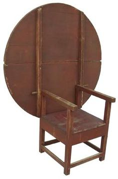 Had one exactly like this, traded it for Windsor chairs... New England Chair Table - Primitive Antiques
