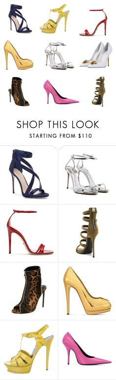 """""""style 8 shoes"""" by jana-harp on Polyvore featuring Imagine by Vince Camuto, Gucci, Giuseppe Zanotti, Tom Ford, Yves Saint Laurent, Balenciaga and Versace"""